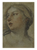 The Head of a Woman Turned to the Left Giclee Print by Francesco Albani