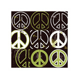 Peace Mantra (green) Giclee Print by Erin Clark
