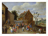 A Wedding Feast in a Courtyard of an Inn Giclee Print by Jan van Kessel