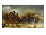 Coaching Scenes- Through the Four Seasons, One of Four Giclée-Druck von William Joseph Shayer