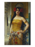 The Favourite of the Harem Premium Giclee Print by Leon Francois Comerre