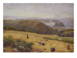 Gleaners: Coast of Somerset Giclee Print by John William North