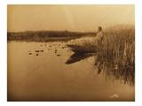 Clamath Marsh, 1898 Giclée-Druck von Edward S. Curtis