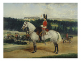 A Squadron Sergeant Major, a Kettle-Drummer and a Detachment of Scots Greys Giclee Print by Edwin Frederick Holt