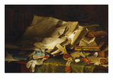 Still Life: Books and Papers on a Desk Premium Giclee Print by Catherine Wood