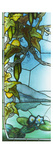 Courges Et Nympheas'. One of a Pair of Stained Glass Windows. Giclee Print by Jacques Gruber