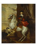 Equestrian Portrait of the Cardinal-Infante Ferdinand of Spain (1609-1641), Wearing Armour and… Premium Giclee Print by Sir Anthony Van Dyck (Follower of)