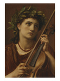 Music, Heavenly Maid Print by Edward John Poynter