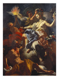 Tithonus Dazzled by the Crowning of Aurora Poster by Francesco Solimena