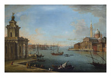 The Bacino Di San Marco, Venice, Looking East, with the Church of San Giorgio Maggiore, and the… Plakater af Antonio Joli