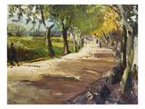 Street in Godramstein; Strasse Bei Godramstein Giclee Print by Max Slevogt