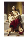 Charity; La Charite Art by William Adolphe Bouguereau