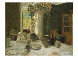 The Dining Room; La Salle a Manger Print by Edouard Vuillard