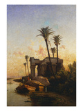 A Temple on the Nile Print by Carlos de Haes