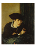 Portrait of a Girl in a Black Hat Giclee Print by Charles Haslewood Shannon