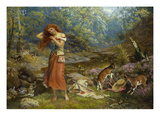 Audrey's Toilet Premium Giclee Print by Arthur Hughes