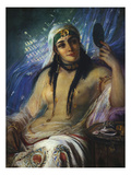 The Odalisque Giclee Print by Anna Maria Elisabeth Jerichau-baumann