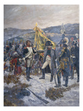Napoleon Conferring the Legion D&#39;Honneur on a Russian General, 1804 Giclee Print by Richard Caton Woodville
