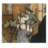 Child in a White Apron; L'Enfant Au Tablier Blanc Giclee Print by Edouard Vuillard