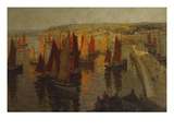 Red and Gold, Brixham Reproduction procédé giclée par Terrick Williams