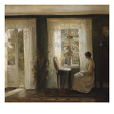A Woman at a Sunny Window Affischer av Carl Holsoe