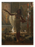 Feeding the Sacred Ibis in the Halls of Karnac Affiches par Edward John Poynter
