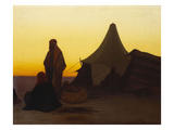 An Arab Encampment at Sunset Giclee Print by Charles Theodore Frere