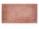 Cliff Temples with Firs; Felsentempel Mit Tannen Giclée-Premiumdruck von Paul Klee