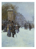 A Paris, La Promenade Giclee Print by Jean Francois Raffaelli