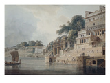 Dasasvamedha Ghat, Benares (Varanasi), Uttar Pradesh Giclee Print by Thomas &amp; William Daniell
