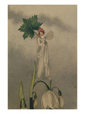 A Fairy Standing on Tiptoes on a Snowdrop Impressão giclée por Amelia Jane Murray