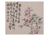 A Page (Flowers) from Flowers and Bird, Vegetables and Fruits Giclee Print by Li Shan