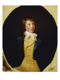 Portrait of John Rice, in a Blue Coat and Yellow Waistcoat Giclee Print by Giovanni Francesco Barbieri
