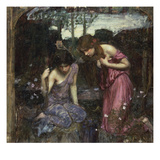 Nymphs Finding the Head of Orpheus Giclee Print by John William Waterhouse