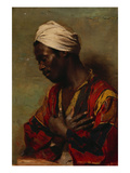 An Arab in Meditation Print by Carl Ludwig Ferdinand Messmann