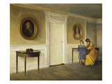 The Artist's Daughter in an Interior at Liselum Prints by Peter Ilsted