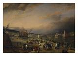 The Admiral's Hard, Stonehouse, Plymouth Reproduction procédé giclée par Richard Bridges Beechey