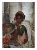 The Orange Seller Giclee Print by Felix-Auguste Clement (Circle of)