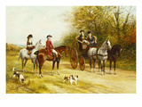 A Wayside Conversation Giclee Print by Heywood Hardy
