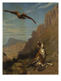 A Tiger with its Prey Giclee Print by Jean Leon Gerome