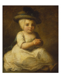 Portrait of Louis Bonomi (1777-1784), Seated Full Length, in a White Dress and Plumed Hat Poster by Angelica Kauffmann