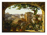Piazza Barberini, Rome Giclee Print by Karl Von Bergen