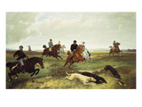 The Chase Giclee Print by Jules von Blaas