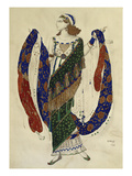 Costume Design for Cleopatra - a Dancer Print by Leon Bakst