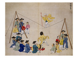 Acrobats on a Tightrope Giclee Print by Kim Junkeun
