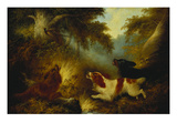 Spaniels Putting Up a Pheasant Art by George Armfield
