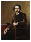 Portrait of Stephane Mallarme, the Poet Giclee Print by Francois Nardi