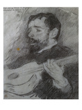 Guitariste Poster by Theo van Rysselberghe