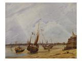 Low Tide, Calais Giclee Print by Francois Louis Thomas Francia