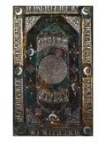 A Fine Khorassian Silver and Copper Inlaid Brass Tray Giclee Print